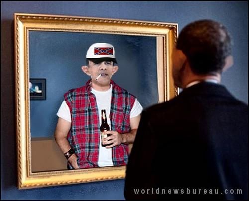 Obamas white half