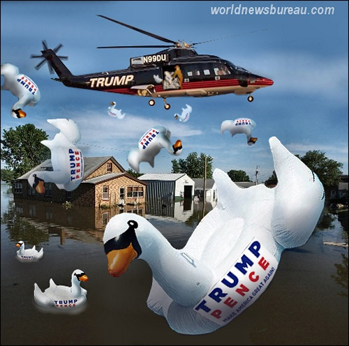 Trump Lousiana Flood Relief