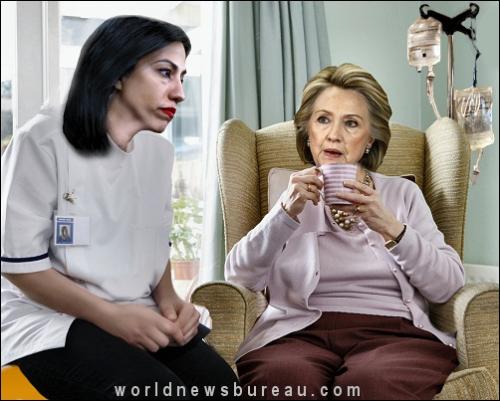 Hillary Relaxing