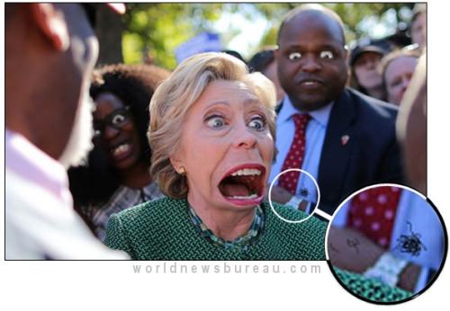 Hillary chokes