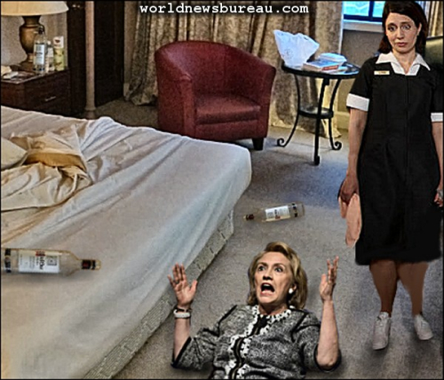 Hillary is down and cant get up