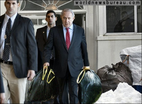 Netanyahu leaving White House back door