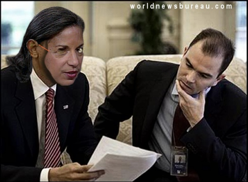 Susan Rice and Ben Rhodes
