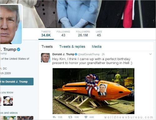 Trump again trolls Kim Jong-un