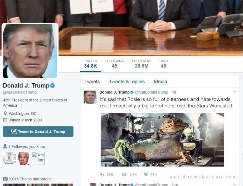 Trump Tweet To Rosie ODonnell