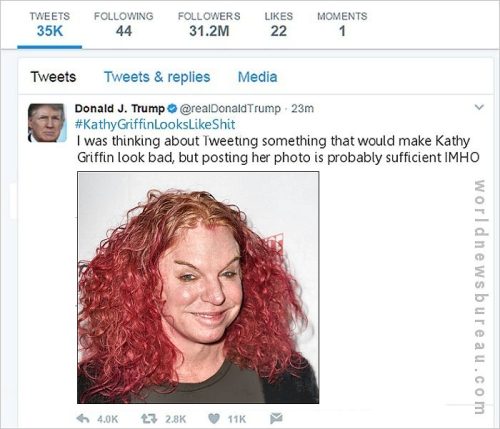 Trump Kathy Griffin Tweet