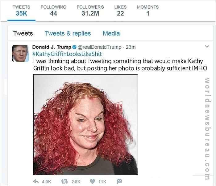 Trump Kathy Griffin Tweet