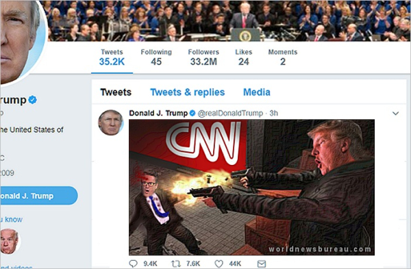 Cnn World News Twitter: Trump Takes CNN Tweet Battle To Next Level
