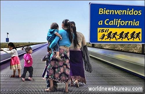 Arizona to California moving walkway