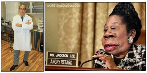Dr Palian and Sheila Jackson Lee