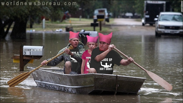 Texas Flood Victims In Pussy Hats