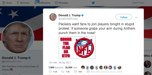 Trump Tweet To Packer Fans