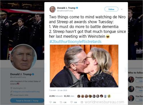 Trump Tweets About de Niro