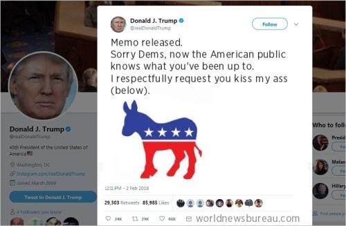 Trump Memo Tweet
