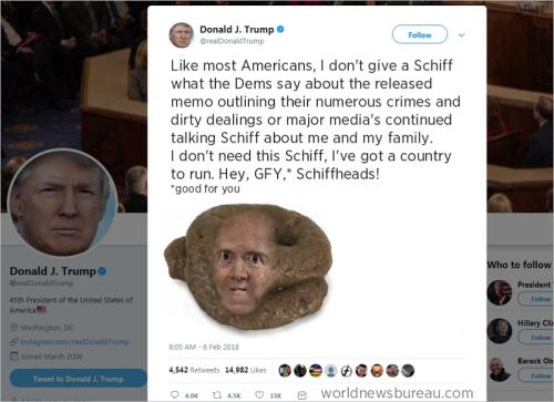 Trump Trolls Adam Schiff