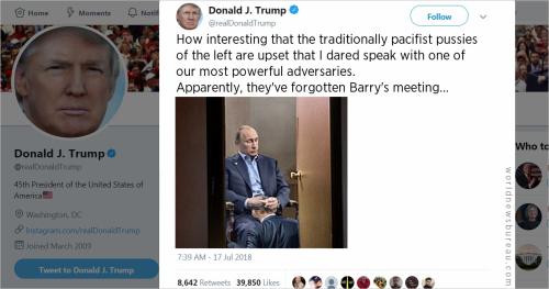 Trump Trolls Liberals