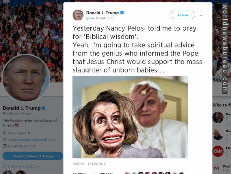 Trump Trolls Pelosi