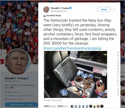 Trump Trolls Dems