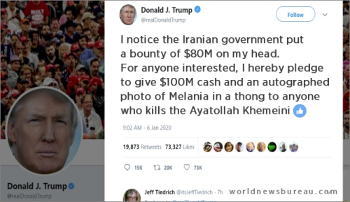 Trump tweet to Iran