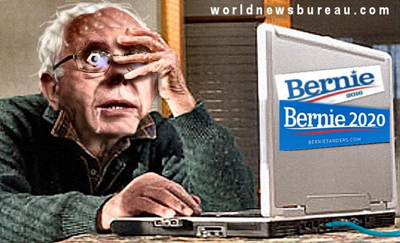 Bernie at the pc