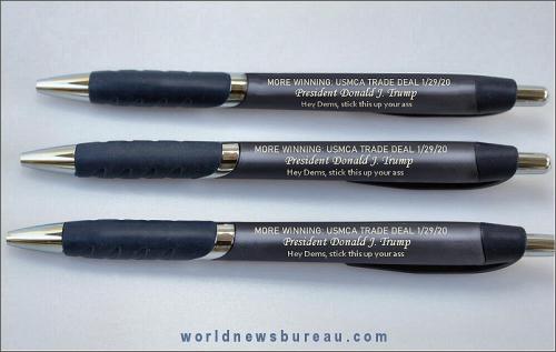 USMCA Trade Deal Pens