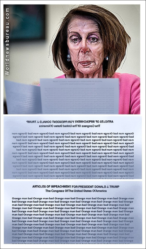 Pelosi With Articles Of Impeachment