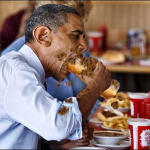 Obama and chili dog