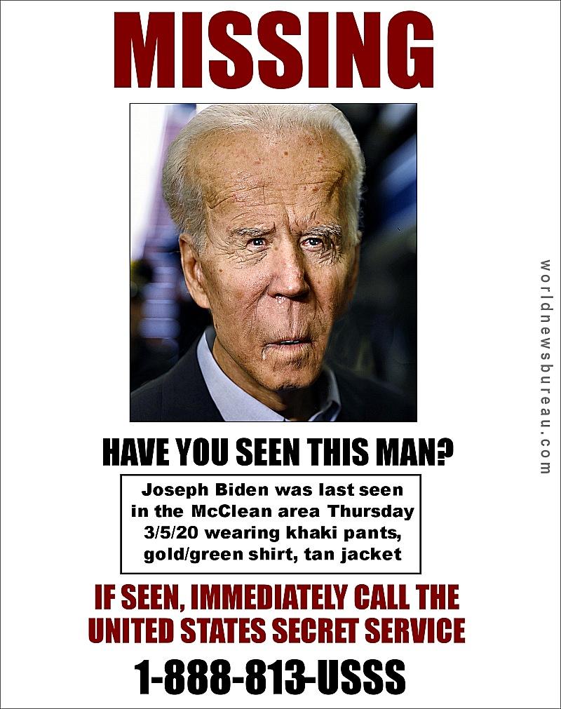 Joe Biden Missing Poster