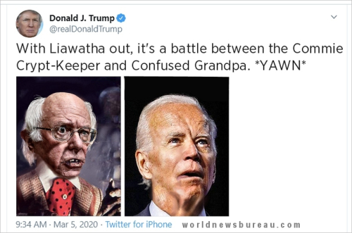 Trump Trolls Sanders and Biden