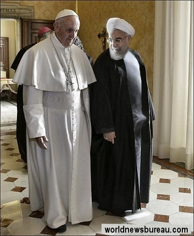 Pope Francis and Rouhani